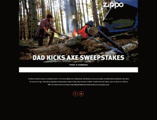 zippodadkicksaxesweepstakes.hscampaigns.com screenshot