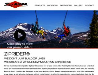 ziprider.com screenshot