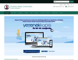 ziraat.omu.edu.tr screenshot