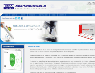 ziskapharmabd.com screenshot