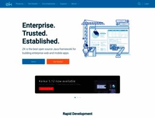 zkoss.org screenshot