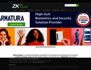 zkteco.eu screenshot