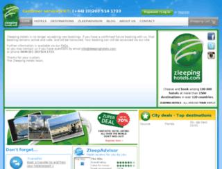zleepinghotels.com screenshot
