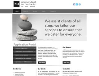 zmaccountants.co.za screenshot