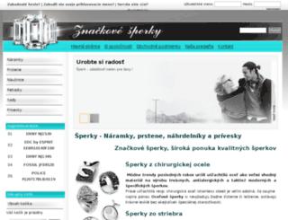 znackovesperky.sk screenshot