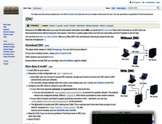 znc.in screenshot
