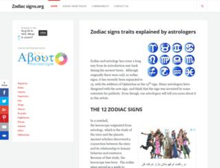 zodiac-signs.org screenshot