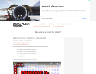 zodiackillerciphers.com screenshot