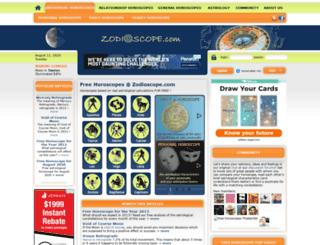 zodioscope.com screenshot