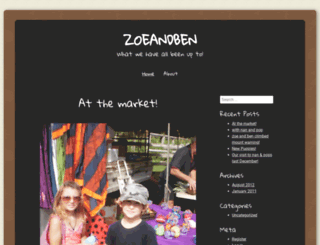 zoeandben.wordpress.com screenshot
