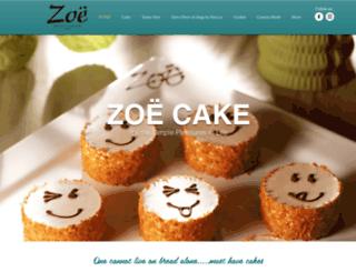 zoecake.com screenshot