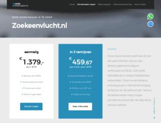 zoekeenvlucht.nl screenshot