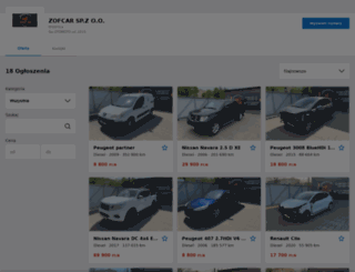 zofcar2011.otomoto.pl screenshot