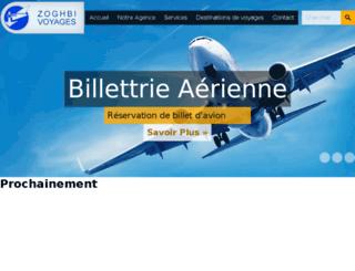 zoghbivoyages.com screenshot