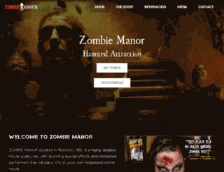 zombiemanor.com screenshot