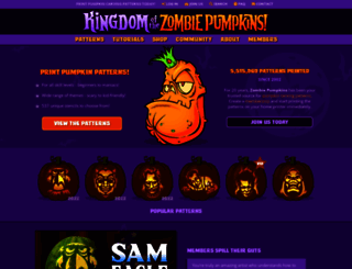 zombiepumpkins.com screenshot