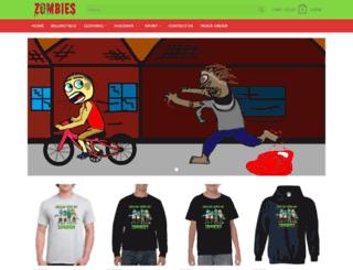 zombiestshirts.com screenshot