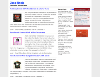 zonabisnis.com screenshot
