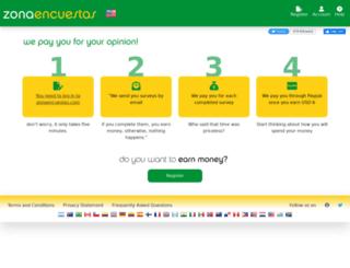 zonaencuestas.com screenshot
