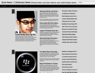zonanews1.blogspot.com screenshot