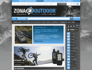 zonaoutdoor.es screenshot