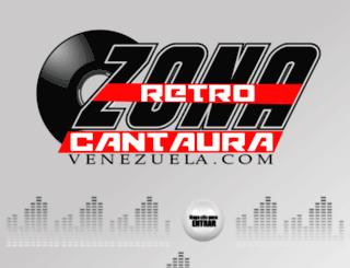 zonaretrocantauravenezuela.com screenshot
