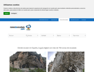 zonasdeescalada.com screenshot