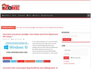 zone-informatique.org screenshot