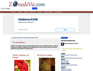 zonedevie.com screenshot