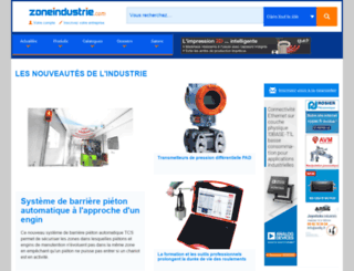 zoneindustrie.com screenshot