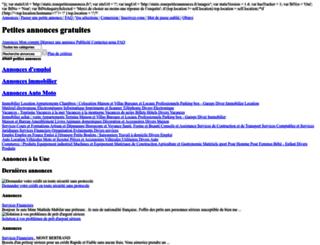 zonepetitesannonces.fr screenshot