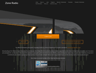 zoneradio.co.za screenshot