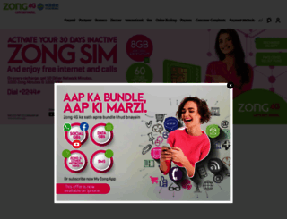 zong.com.pk screenshot