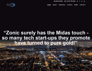 zonicgroup.com screenshot