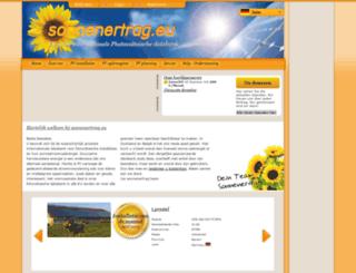 zonnestroomopbrengst.eu screenshot
