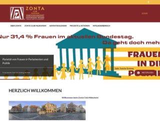 zonta-hildesheim.de screenshot