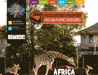 zoo-boissiere.com screenshot