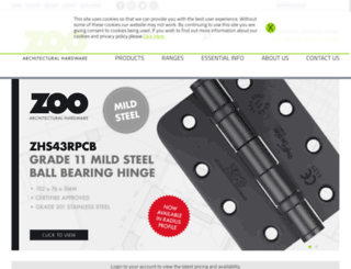 zoo-hardware.co.uk screenshot