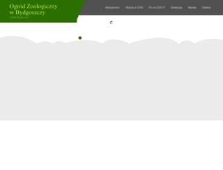 zoo.bydgoszcz.com screenshot