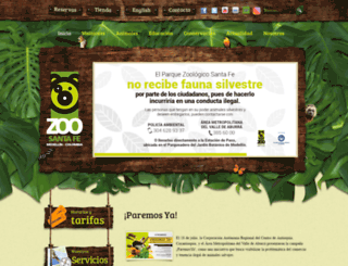 zoologicosantafe.com screenshot