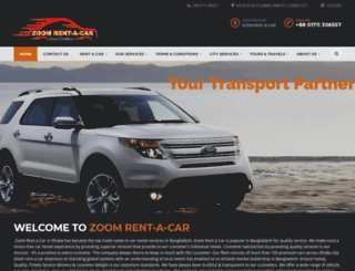 zoomrentacar.com.bd screenshot