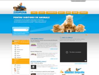 zoopedia.ro screenshot