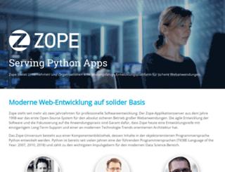 zope.de screenshot
