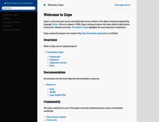 zope.org screenshot