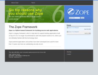 zope2.zope.org screenshot