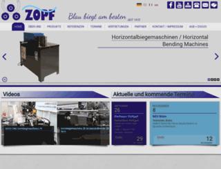 zopfbiegemaschinen.de screenshot