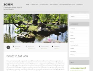 zorendemo.wordpress.com screenshot
