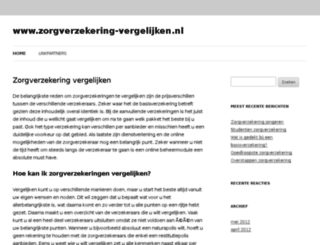 zorgverzekering-vergelijken.nl screenshot