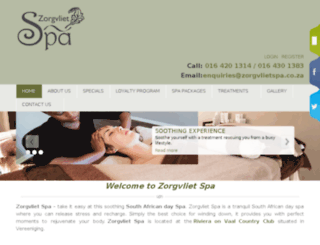 zorgvlietspa.co.za screenshot