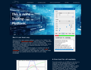 zorro-trader.com screenshot